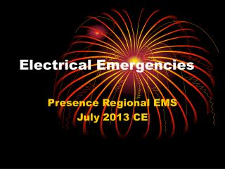 Electrical Emergencies