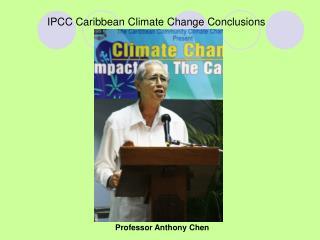 IPCC Caribbean Climate Change Conclusions