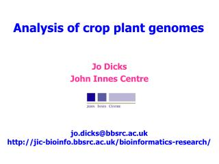 Analysis of crop plant genomes