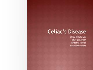 Celiac's Disease