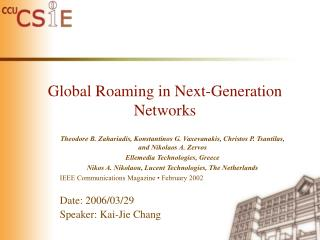 Global Roaming in Next-Generation Networks