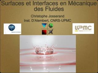Surfaces et Interfaces en Mécanique des Fluides
