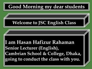 Welcome to JSC English Class