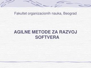 Fakultet organizacionih nauka, Beograd