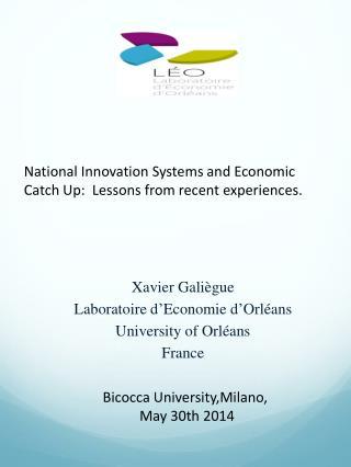 Xavier Gali�gue Laboratoire d � Economie d � Orl�ans University of Orl�ans France