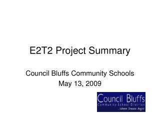 E2T2 Project Summary