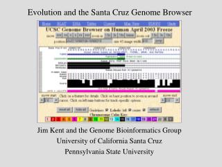 Evolution and the Santa Cruz Genome Browser