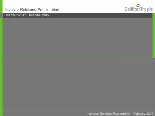 Investor Relations Presentation
