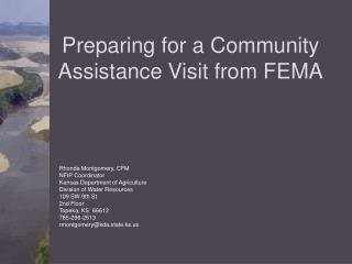 Preparing for a Community Assistance Visit from FEMA