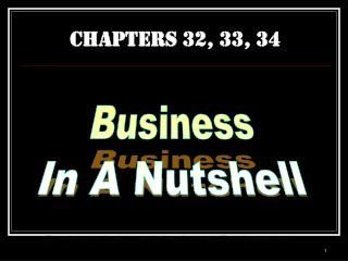 CHAPTERS 32, 33, 34
