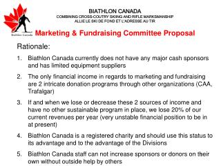Marketing & Fundraising Committee Proposal Rationale: