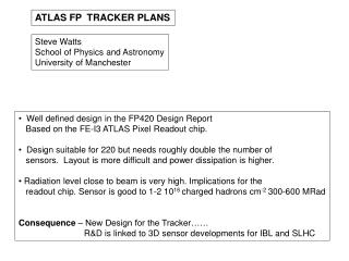 ATLAS FP  TRACKER PLANS