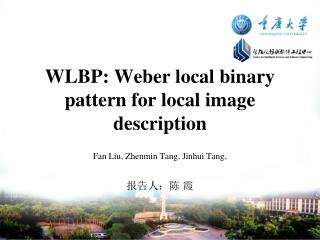 WLBP: Weber local binary pattern for local image description