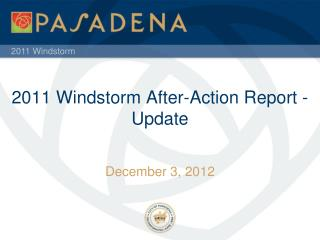 2011 Windstorm After-Action Report - Update