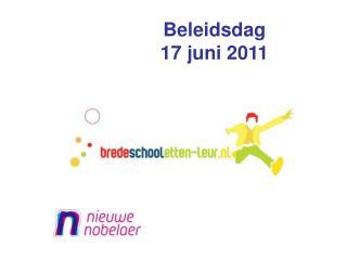 Beleidsdag  17 juni 2011