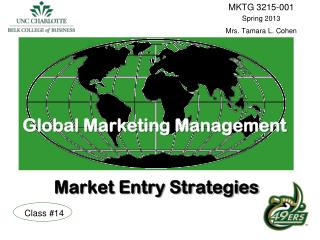 Global Marketing Management Market Entry Strategies
