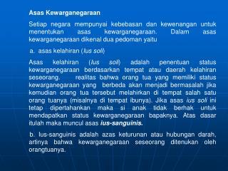 Asas Kewarganegaraan