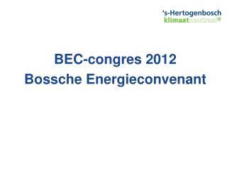 BEC- congres  2012 Bossche Energieconvenant