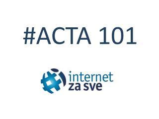# ACTA 101