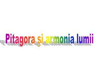 Pitagora şi armonia lumii