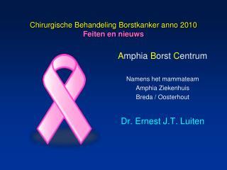Chirurgische Behandeling Borstkanker anno 2010 Feiten en nieuws