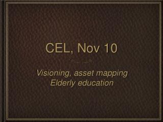 CEL, Nov 10