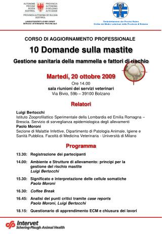 Programma 13.30: Registrazione dei partecipanti