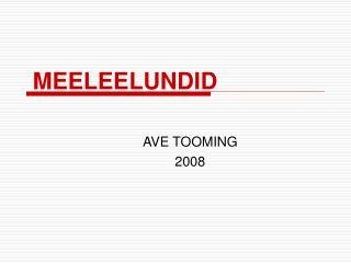 MEELEELUNDID