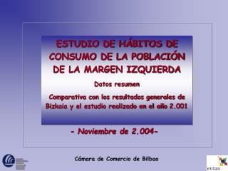 ESTUDIO DE HÁBITOS DE CONSUMO DE LA POBLACIÓN DE LA MARGEN IZQUIERDA  Datos resumen