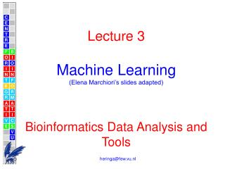 Lecture 3 Machine Learning