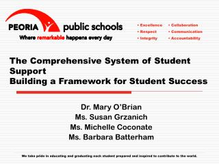The Comprehensive System of Student Support Building a Framework for Student Success