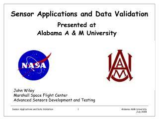 Sensor Applications and Data Validation