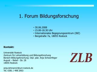 1. Forum Bildungsforschung