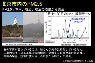 北京市内の PM2.5