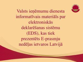 Valsts ieņēmumu dienesta  informatīvais materiāls par elektroniskās