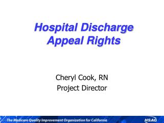 Hospital Discharge Appeal Rights
