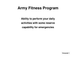 Army Fitness Program
