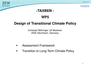 -TAXBEN - WP5 Design of Transitional Climate Policy