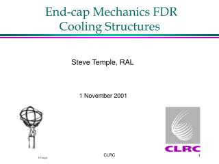 End-cap Mechanics FDR Cooling Structures