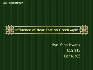 Influence of Near East on Greek Myth