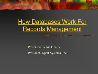 How Databases Work For Records Management