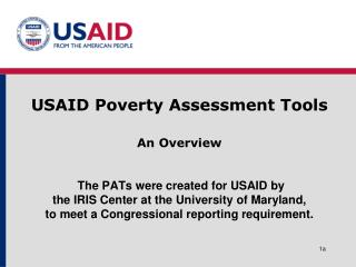 USAID Poverty Assessment Tools