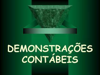 DEMONSTRAÇÕES CONTÁBEIS