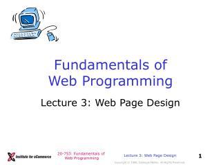 Fundamentals of Web Programming