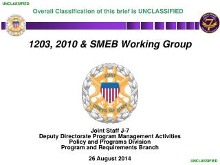 1203, 2010 & SMEB Working Group