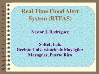 Existing Flood Alert System