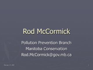 Rod McCormick
