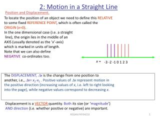 2: Motion in a Straight Line