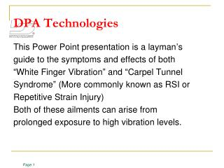 DPA Technologies