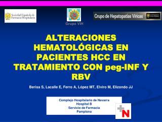 Complejo Hospitalario de Navarra Hospital B Servicio de Farmacia Pamplona